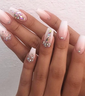 hands, sparkle and nails