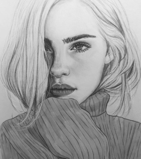 black and white, drawing and sketch