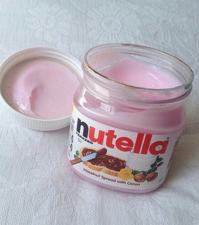 pink and nutella