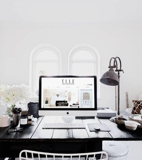 white, Elle and bedroom