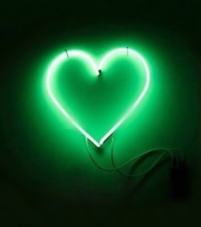 green, neon and light