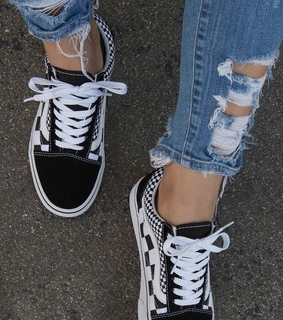 black and white, sneakers and vans