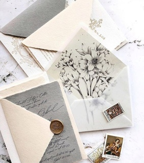beautiful love glam, envelope and flower flowers