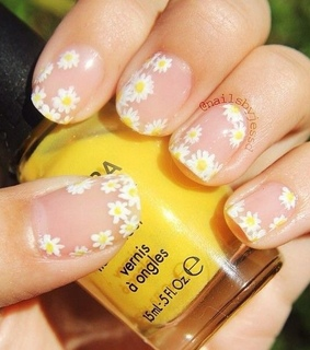 spring, flowers and nail art design