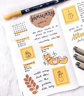 ideas, bullet journal and study